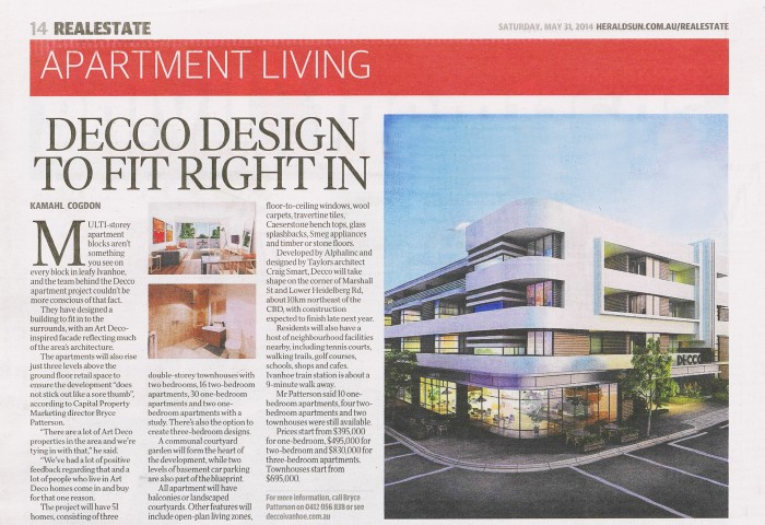 Apartment Living: Decco Design to fit right in