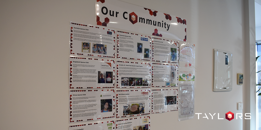Our Community Wall – a visual aide for all to see how they can get involved