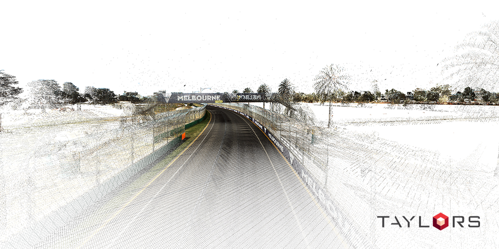 Point cloud data capture of the Formula 1 Grand Prix track