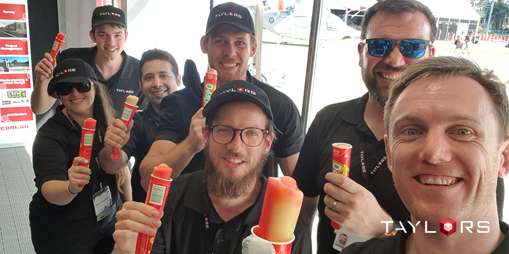 The Taylors team eating icecream and celebrating a weekend of teamwork at the Grand Prix